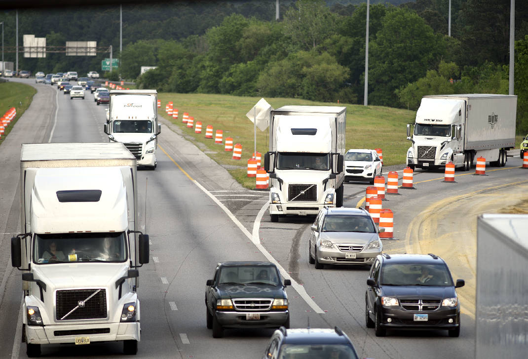 Contractor starts early work, materials deliveries at I-75/I-24 'Split' - Chattanooga Times Free Press