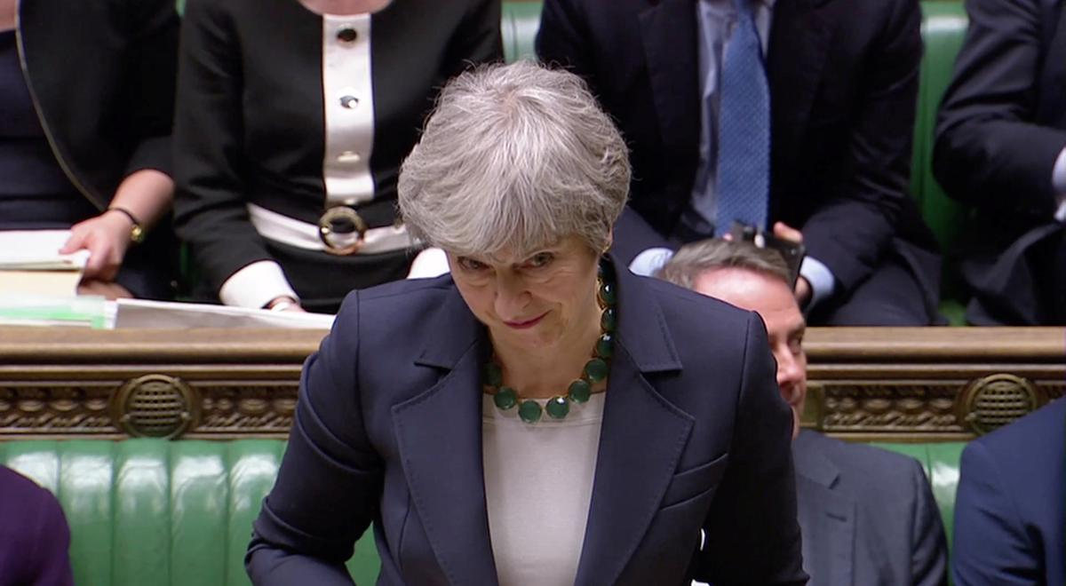 Brexit set for delay after May wounded by rejection of 'no-deal'