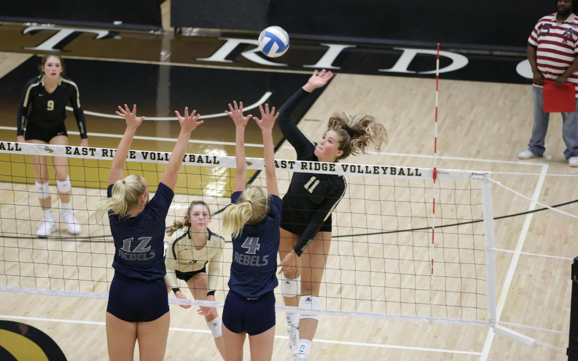 East Ridge volleyball defeats defending state champions